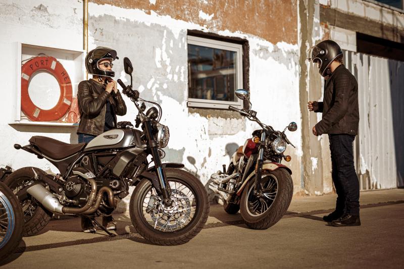 Klasyczna skórzana kurtka motocyklowa - Rebelhorn Hunter PRO